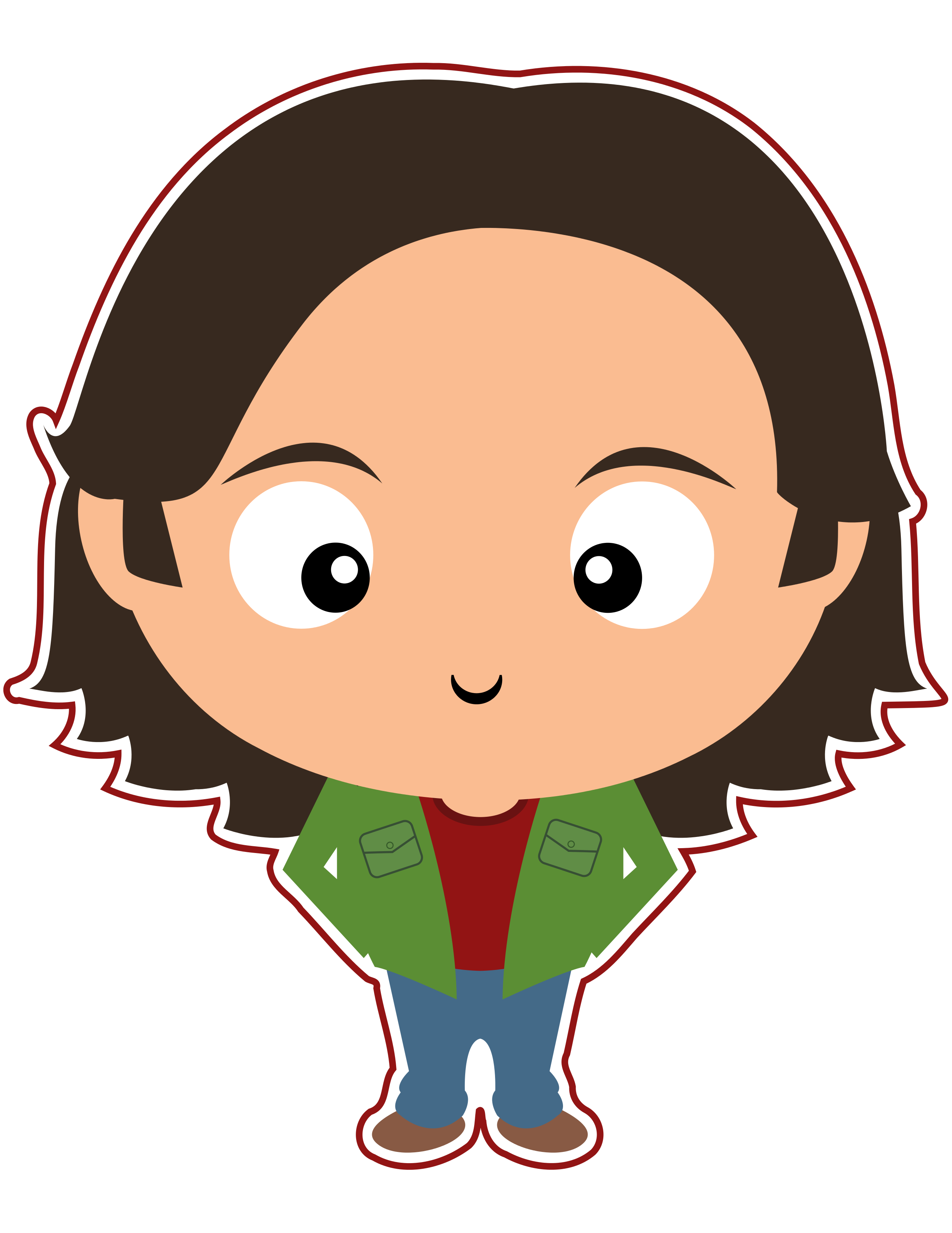 Jared padalecki clipart svg royalty free library Supernatural Clipart - Sam Winchester - Cute Funko Pop, Jared ... svg royalty free library