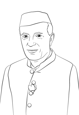 Jawaharlal nehru clipart svg freeuse library Jawaharlal Nehru coloring page | Free Printable Coloring Pages svg freeuse library