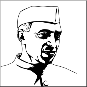 Jawaharlal nehru clipart clip art freeuse Clip Art: India: Jawaharlal Nehru B&W I abcteach.com | abcteach clip art freeuse