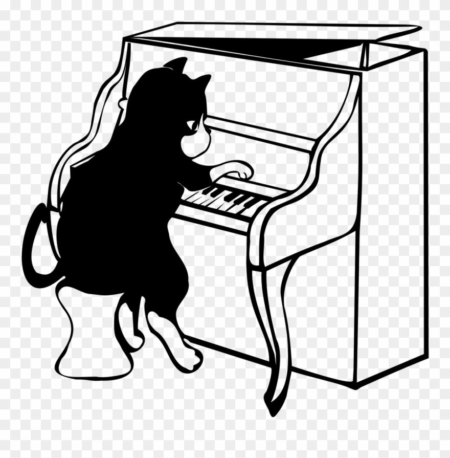 Jazz piano clipart vector royalty free download Flute Clipart Jazz Piano - Jazz Cat Piano - Png Download (#1014811 ... vector royalty free download