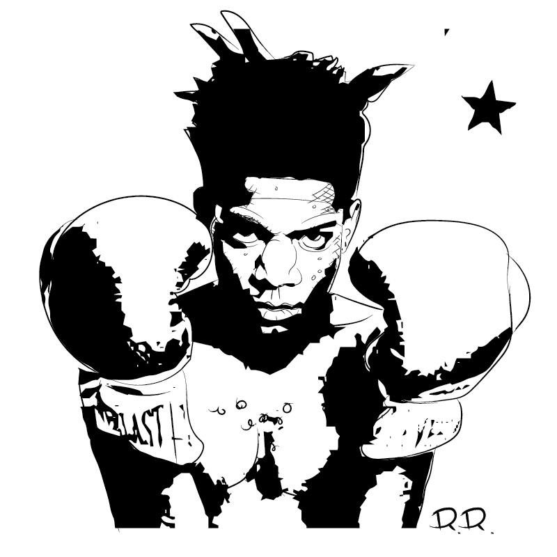 Jean michel basquiat clipart clip art black and white download On Dek on Twitter: \