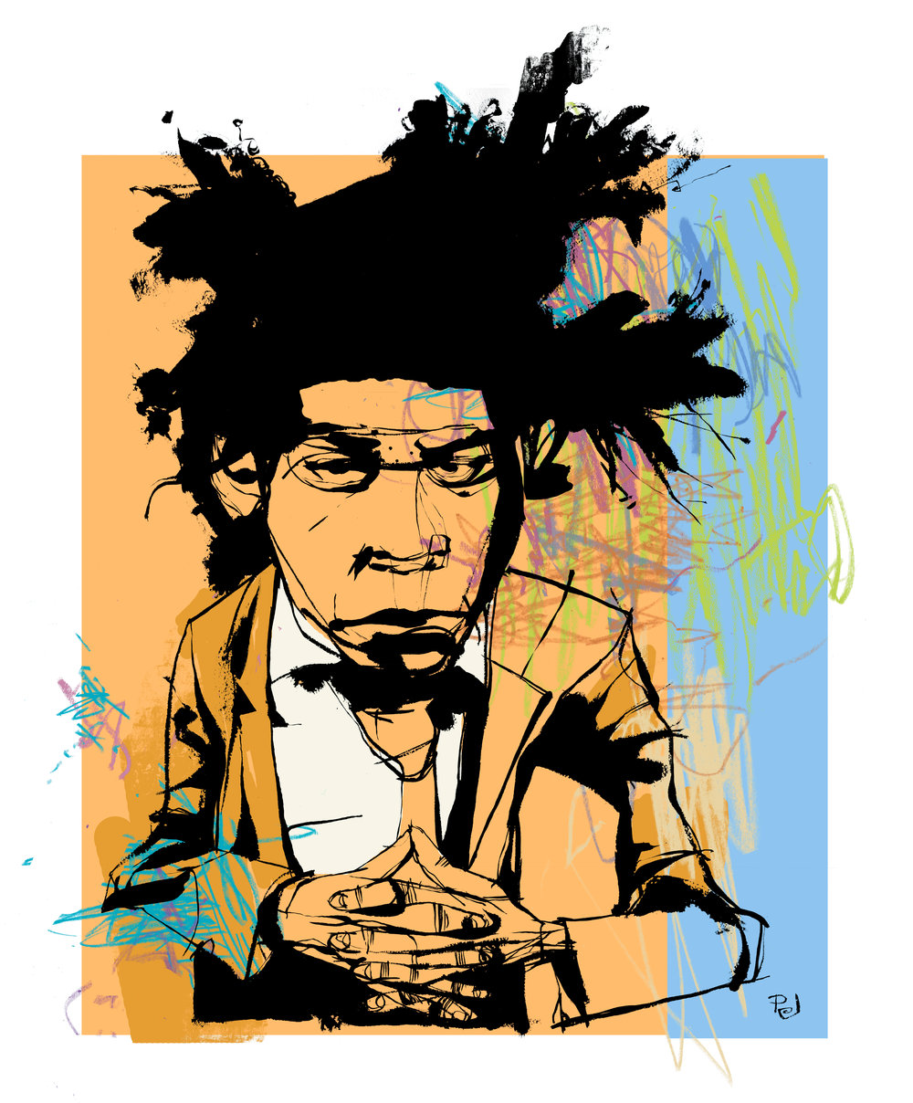 Jean michel basquiat clipart vector royalty free library A Basquiat Painting Transforms a College Museum into a Space for ... vector royalty free library