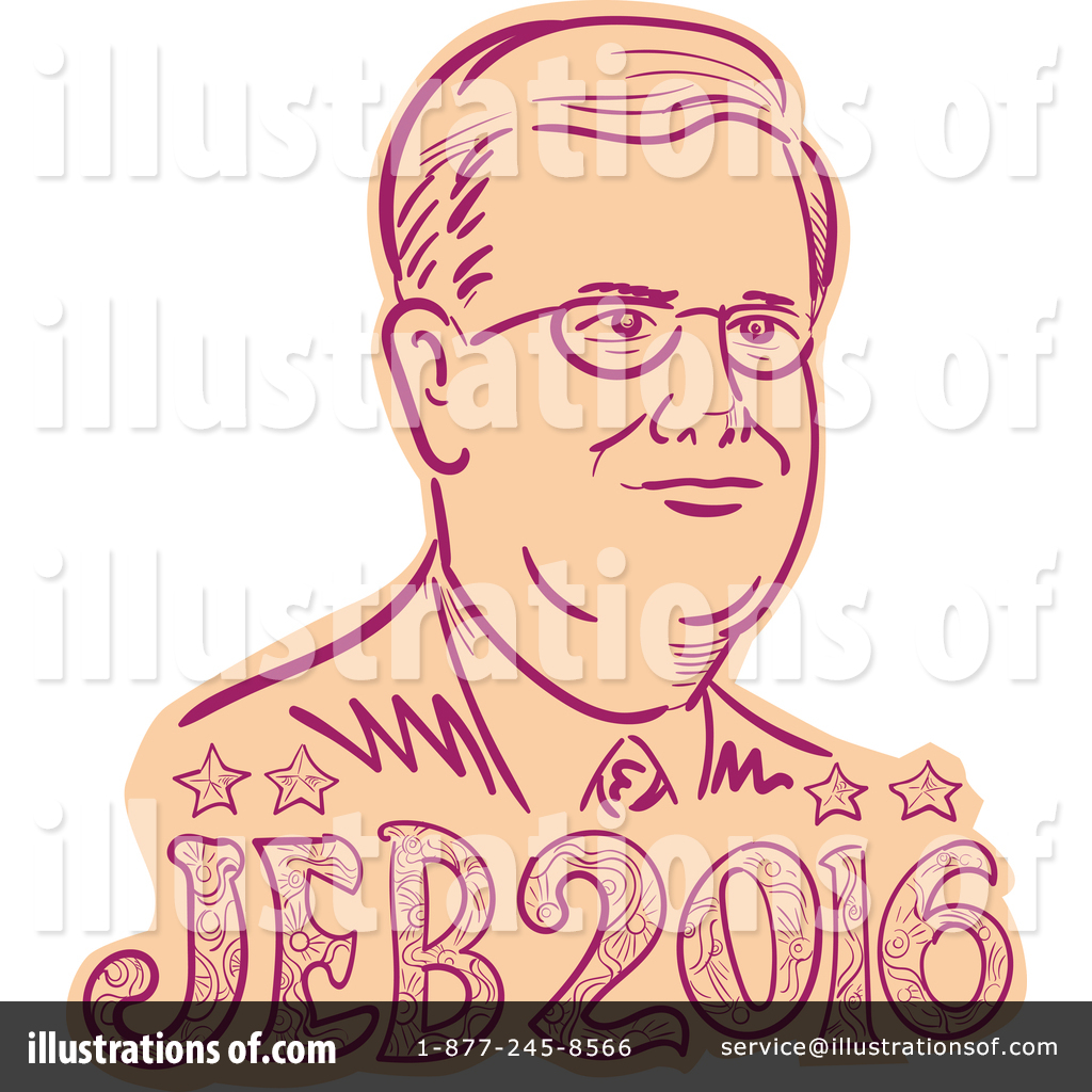 Jeb bush clipart jpg library Jeb Bush Clipart #1366787 - Illustration by patrimonio jpg library