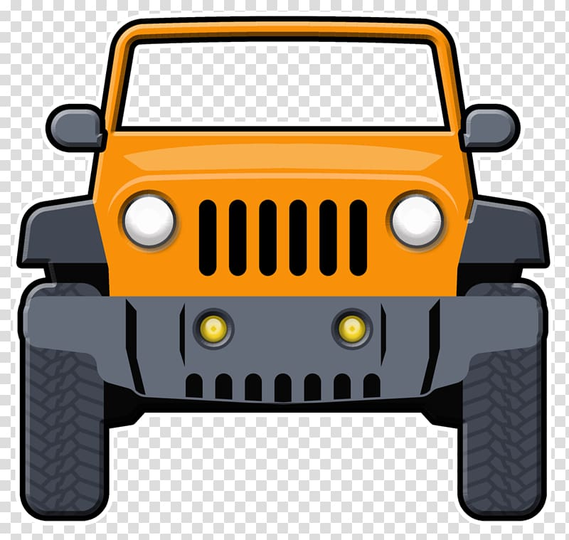 Jeep background clipart banner royalty free download Yellow and black vehicle art, Jeep Wrangler Car : Transportation ... banner royalty free download