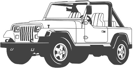 Black and white jeep clipart picture free Jeep black and white clipart 2 » Clipart Station picture free