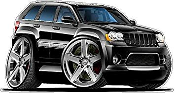 Jeep grand cherokee srt8 clipart vector royalty free library 2007 Jeep Grand Cherokee SRT8 2ft long WALL DECAL Vintage 3D Car Movable  Stickers Vinyl... vector royalty free library