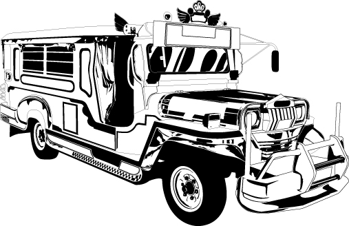 Jeepney clipart black and white banner free Jeepney clipart black and white 3 » Clipart Station banner free