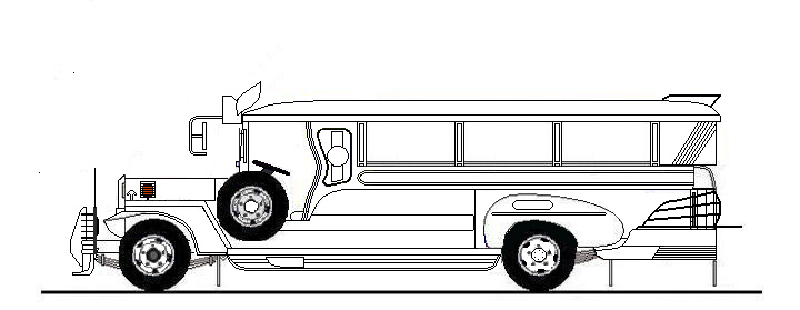 Jeepney clipart black and white svg library Jeepney clipart black and white 1 » Clipart Station svg library