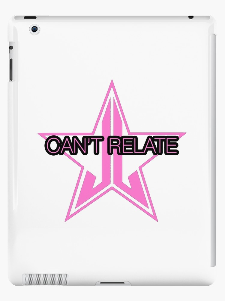 Jeffree star logo clipart clip art free \'Jeffree Star Can\'t Relate\' iPad Case/Skin by ImperialDesignz clip art free