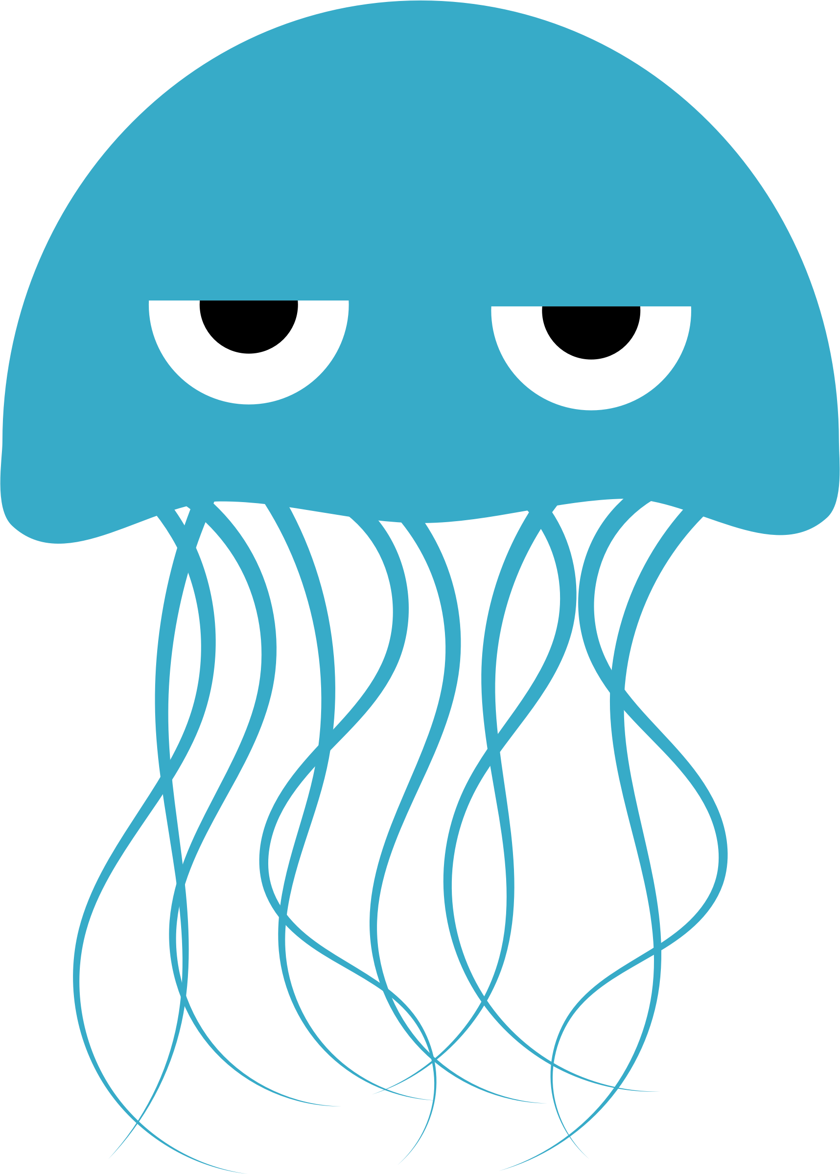 Jelly fish black and white clipart clip art transparent A Jellyfish with attitude. Not the friendliest of Squishies. By ... clip art transparent