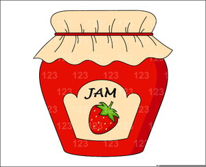 Jelly jar clipart svg royalty free library Free Jelly Jar Clipart | Free Images at Clker.com - vector ... svg royalty free library