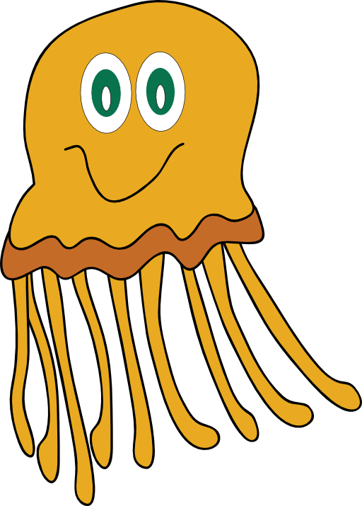 Jellyfish clipart png transparent background - ClipartFest svg library