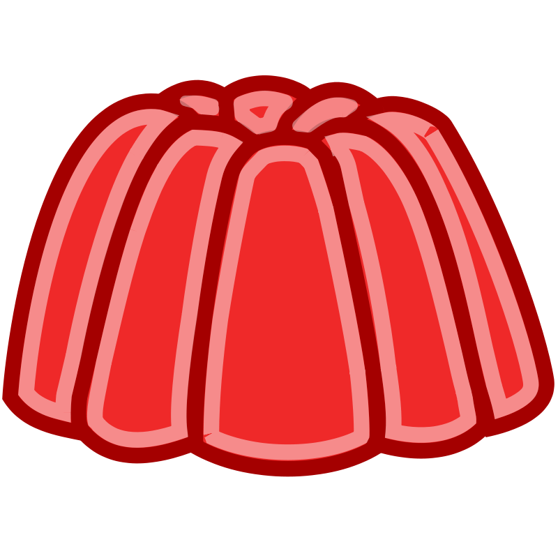 Jely clipart vector black and white library Free Clipart: Tango Style Red Jelly | rugby471 vector black and white library