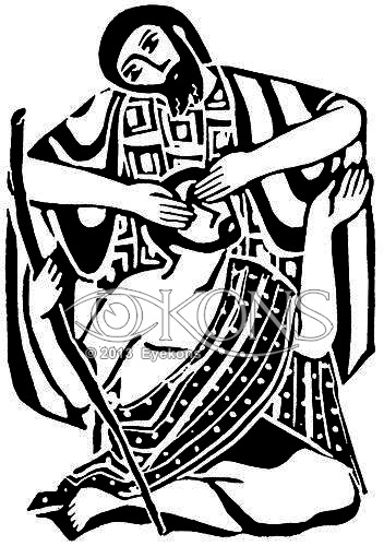 Jesus and blind beggar black & white clipart freeuse Global Christian Worship — Lord Have Mercy on Me (Kyrie): Bartimaeus ... freeuse