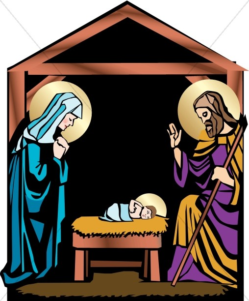 Jesus and mary clipart clip black and white stock Nativity Clipart, Clip Art, Nativity Graphic, Nativity Image ... clip black and white stock