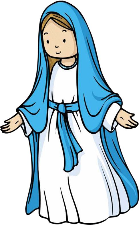 Jesus and mother mary clipart clipart black and white library Mary jesus mother clipart - ClipartFest clipart black and white library