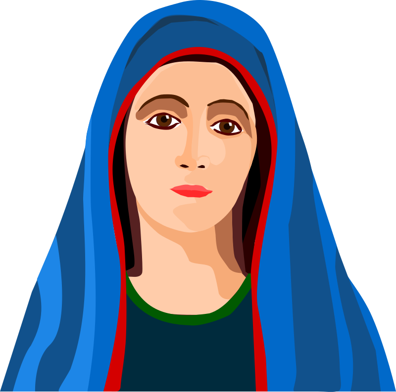 Free clipart of mary and jesus svg library stock Mary Clipart - Clipart Kid svg library stock