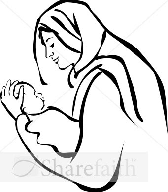 Jesus and mother mary clipart jpg download Mary holding the body of jesus clipart black and white - ClipartFest jpg download