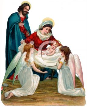 Jesus and mother mary clipart graphic free download Mother Mary and Angels with Baby Jesus - Royalty Free Clipart Image graphic free download