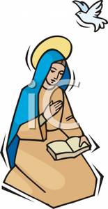 Jesus and mother mary clipart vector black and white library Virgin Mary Mother of Jesus Clip Art – Clipart Free Download vector black and white library