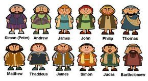 Lds clipart black and white jesus and the twelve disciples black and white library Bible 12 Disciples Set 5 The Twelve Clipart - Free Clip Art Images ... black and white library