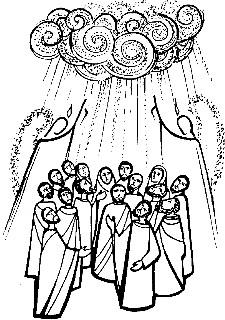 Jesus ascending clipart banner black and white stock Ascension day clipart - ClipartFest banner black and white stock