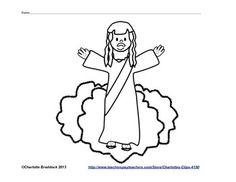 Jesus ascending clipart png transparent Jesus ascended into heaven clipart - ClipartFest png transparent
