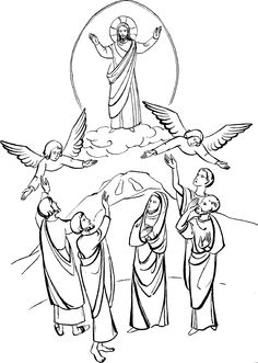 Jesus ascending clipart picture royalty free Ascension- of -Jesus- Christ- Coloring- Pages_16   Homeschool ... picture royalty free