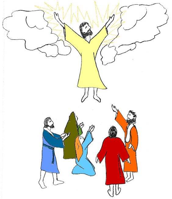 Jesus ascending clipart graphic royalty free library Ascension day clipart - ClipartFest graphic royalty free library