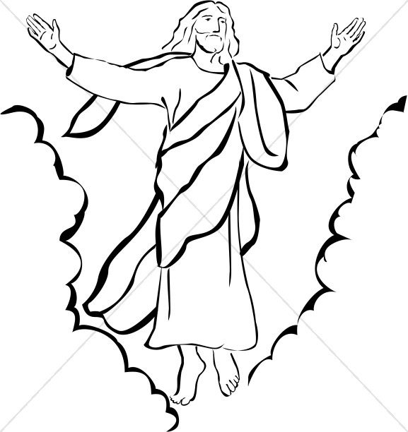 Jesus ascending clipart vector library stock Ascension Day Clipart, Ascension Images - Sharefaith vector library stock