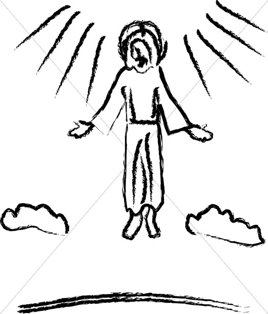 Jesus ascending clipart banner royalty free library Ascension Day Clipart, Ascension Images - Sharefaith banner royalty free library