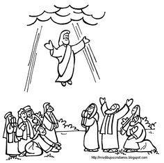 Jesus ascending clipart svg transparent library Clipart of ascension of jesus - ClipartFest svg transparent library