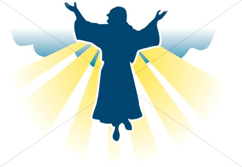 Jesus ascending clipart clip transparent stock Ascension Day Clipart, Ascension Images - Sharefaith clip transparent stock