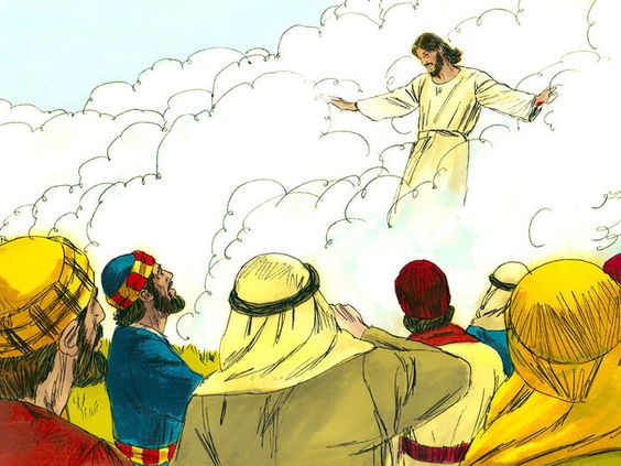 Jesus ascending to heaven clipart clipart library download Free Bible illustrations at Free Bible images of Jesus ascending ... clipart library download