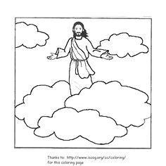 Jesus ascending to heaven clipart svg royalty free Jesus Ascension Coloring Page. jesus christ coloring pages ... svg royalty free