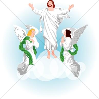Jesus ascending to heaven clipart clip art royalty free Clip Art Of Angels In Heaven Clipart - Clipart Kid clip art royalty free