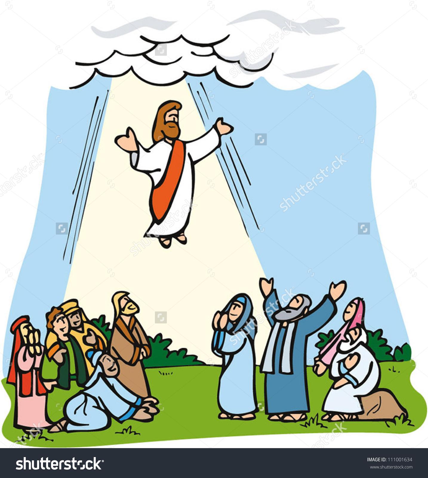 Jesus ascending to heaven clipart clip art freeuse library Jesus ascending to heaven clipart - ClipartFest clip art freeuse library