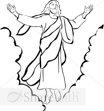 Jesus ascending to heaven clipart svg royalty free Jesus ascending to heaven clipart - ClipartFest svg royalty free