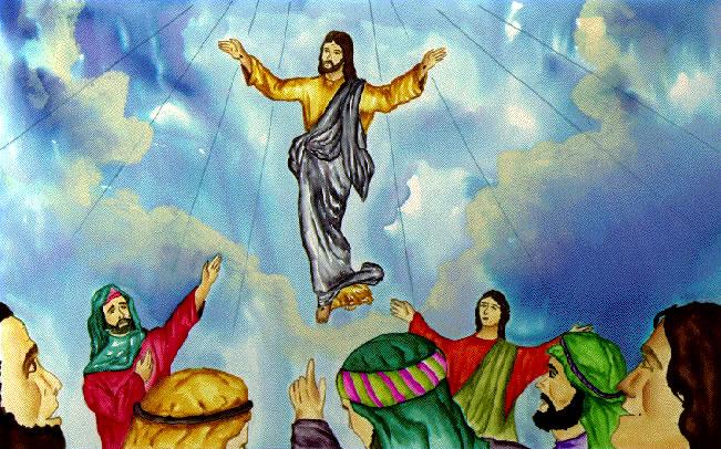 Jesus ascending to heaven clipart graphic stock Clip Art Jesus in Heaven – Free wallpaper download graphic stock