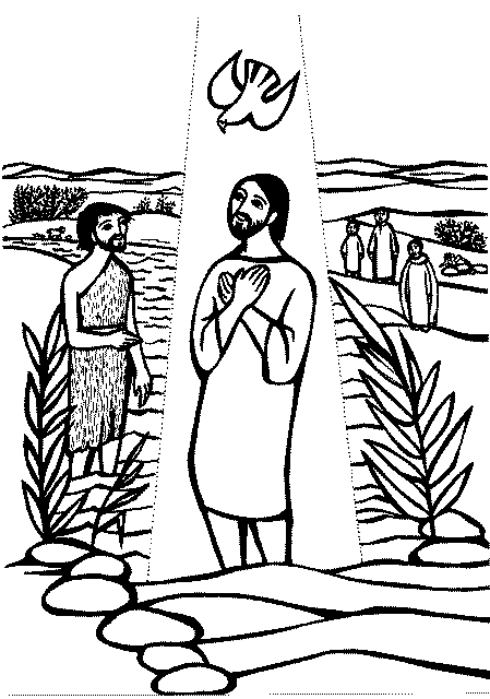 Jesus baptism black & white clipart jpg black and white library Jesus Being Baptised Png Black And White & Free Jesus Being Baptised ... jpg black and white library