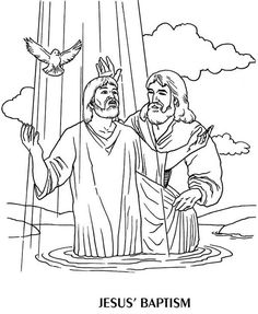 Jesus being baptized black and white clipart image royalty free 362 Best Baptism of Jesus images in 2019 | Sunday school, Children ... image royalty free