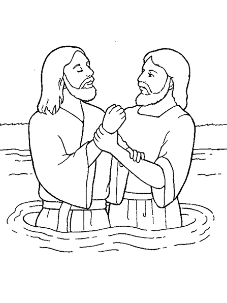 Jesus being baptized black and white clipart image transparent download John the Baptist image transparent download