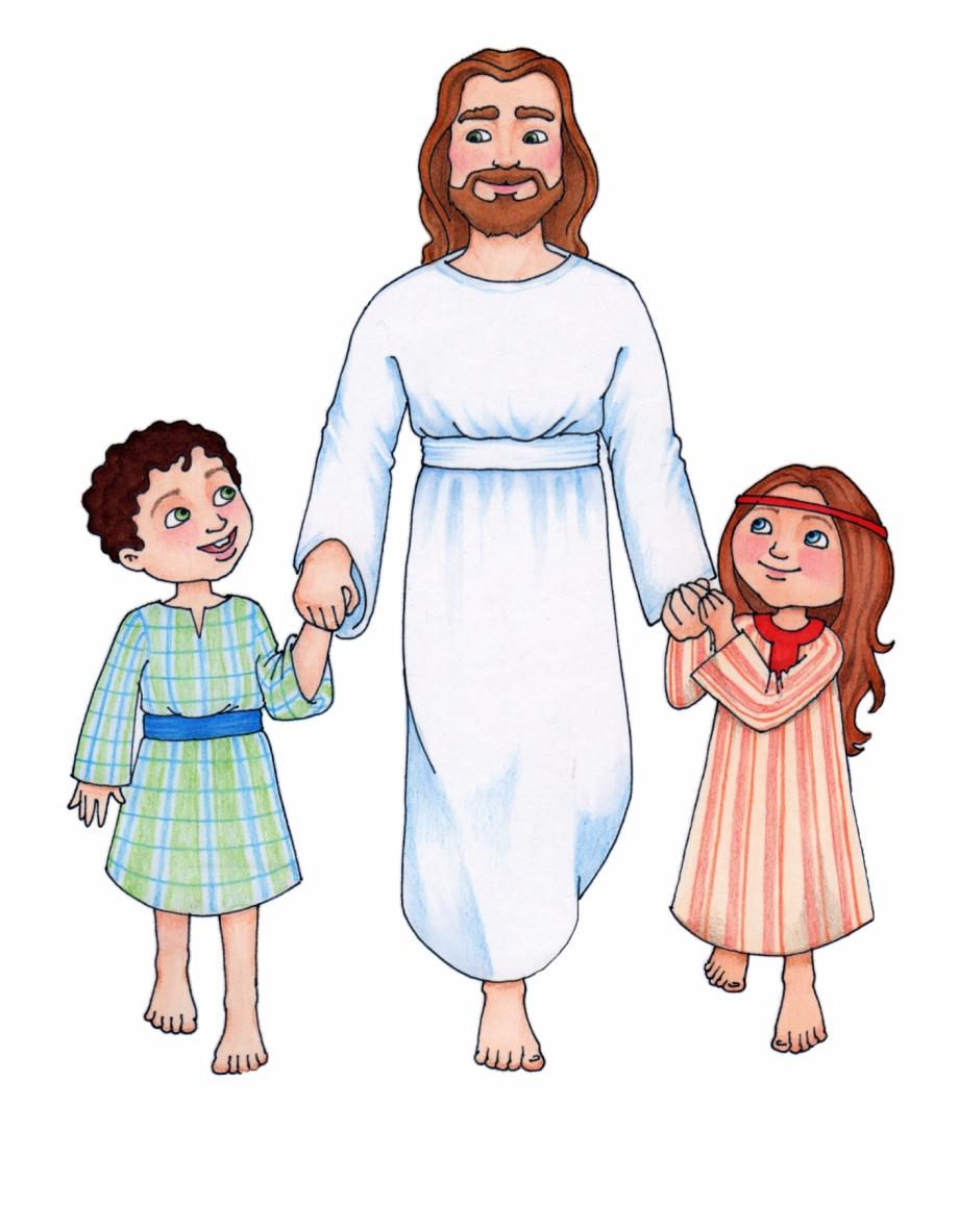 Jesus Children Clip Art Free Clipart Images - Jesus Christ Lds ... png free library