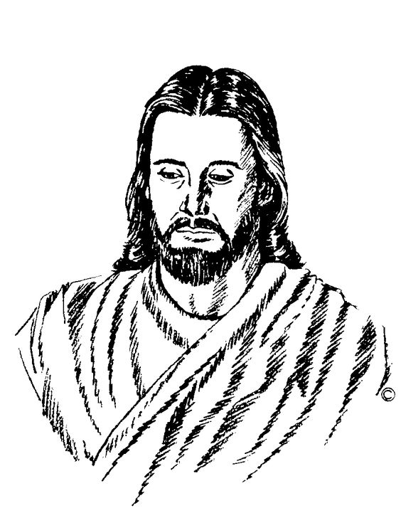 Jesus clipart black and white full body png free library Black And White Images Of Jesus Group with 84+ items png free library