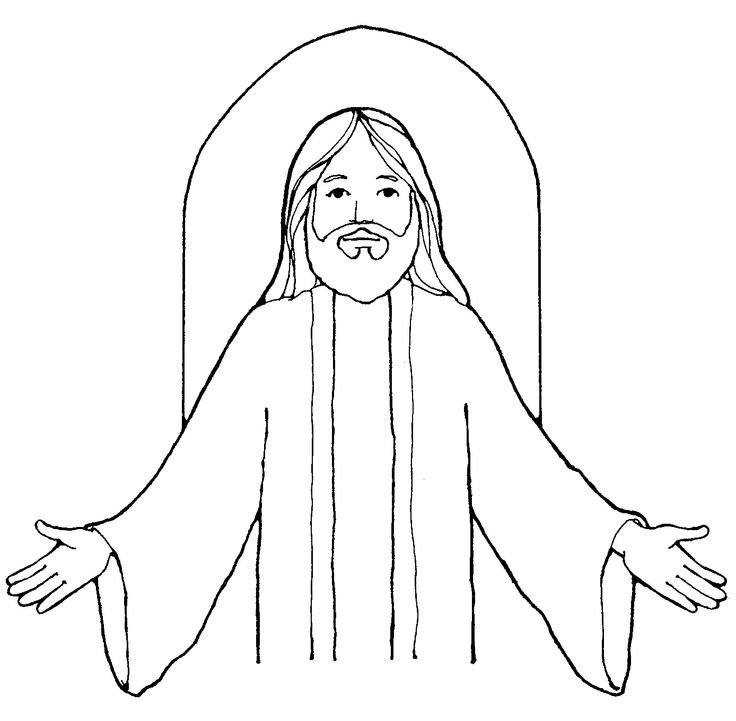 Jesus clipart black and white full body vector freeuse download Black And White Images Of Jesus Group with 84+ items vector freeuse download