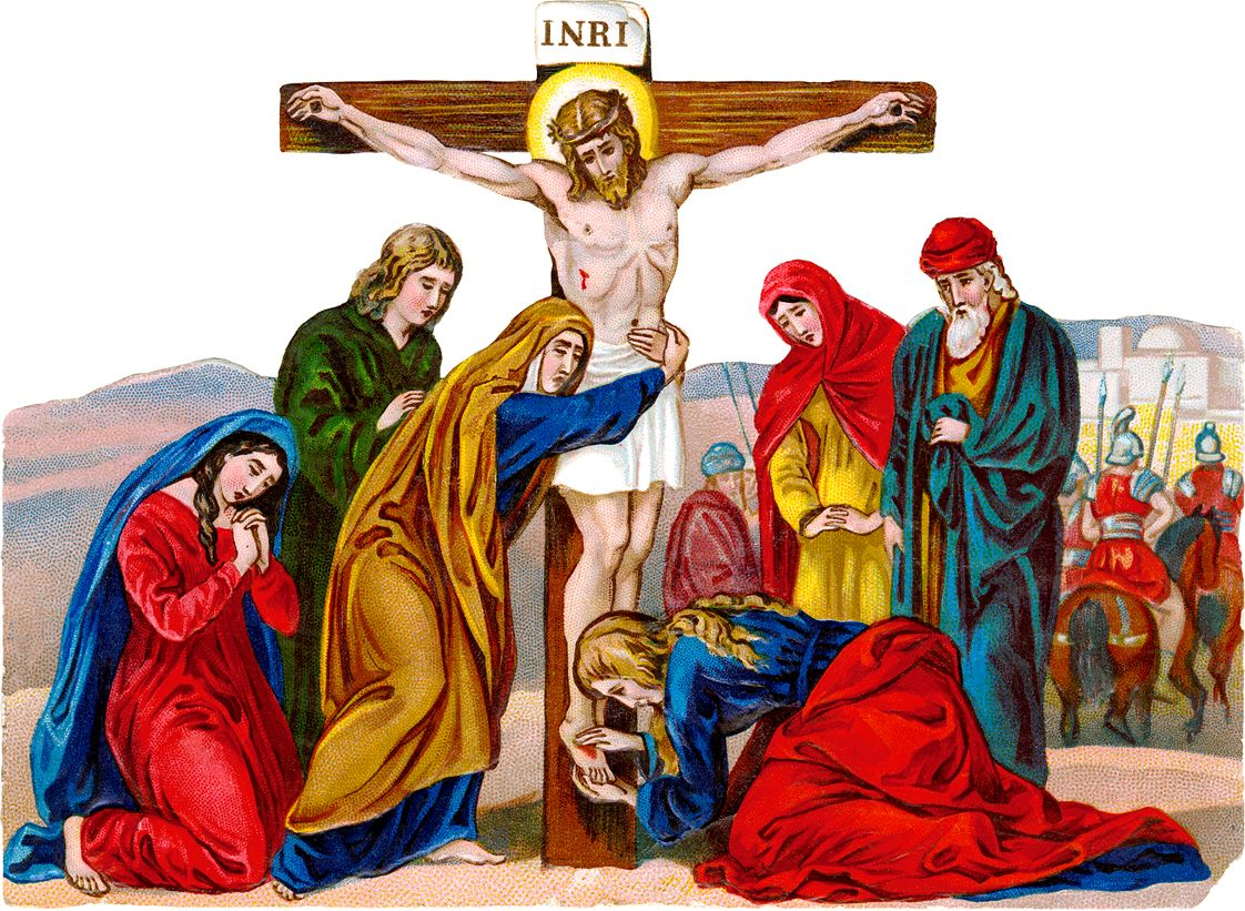 Jesus death clipart png royalty free download Antique Catholic Holy Cards | Clip Art: Crucifixion of Jesus, a 19th ... png royalty free download