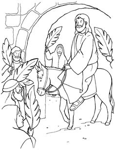 Jesus enters jerusalem black and white clipart black and white download 38 Best Jesus Enters Jerusalem images | Palm sunday, Easter, Jesus ... black and white download