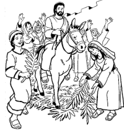 Jesus enters jerusalem black and white clipart vector library Free PNG images - DLPNG.com vector library