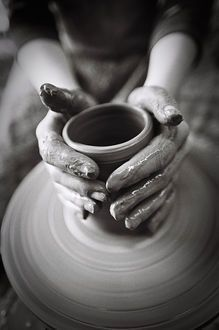 Jesus hands shaping pot of clay clipart black and white image free stock 552 Best Potter\'s hands/clay images in 2019 | Pottery, Ceramica ... image free stock