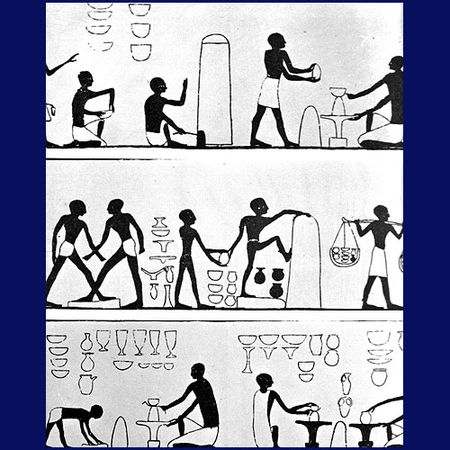 Jesus hands shaping pottery clipart black and white vector black and white download Ancient Egyptian Pottery - Image Gallery vector black and white download